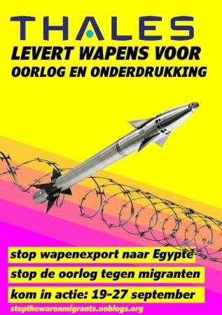 24 september 2020: Picketline bij Thales Huizen: Stop wapenexport naar Egypte!